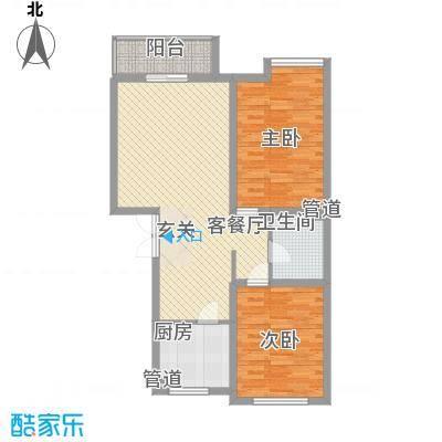 �悦香湾82.00㎡�悦香湾2室户型2室