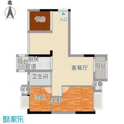 东兴花园108.00㎡东兴花园3室户型3室