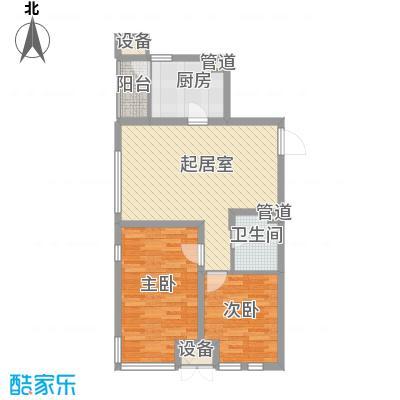 金地滨河国际社区86.00㎡金地滨河国际社区2室户型2室