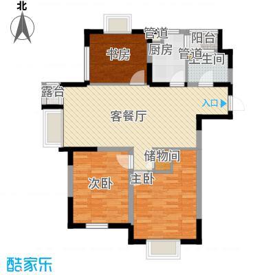 融城时代105.68㎡融城时代户型图3室2厅1卫户型10室