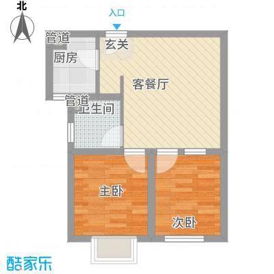 新都汇公寓59.45㎡新都汇公寓户型图4#BB'户型2室2厅1卫1厨户型2室2厅1卫1厨
