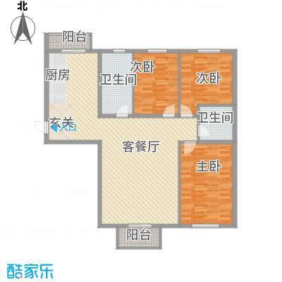 浑南生态园157.93㎡浑南生态园户型图3室2厅2卫户型10室