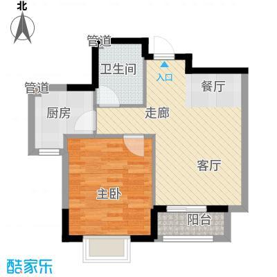 融城时代64.83㎡融城时代户型图融城二期1室2厅1卫户型1室2厅1卫