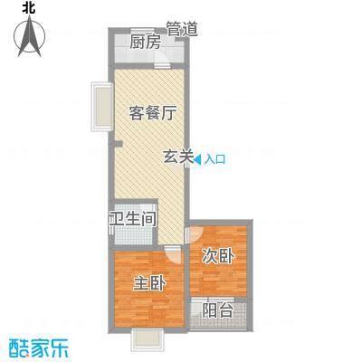 华福国际80.00㎡华福国际户型图B72室2厅1卫户型2室2厅1卫