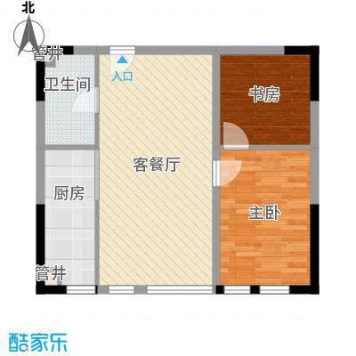 新华国际公寓83.64㎡新华国际公寓户型图二期户型2室1厅1卫户型2室1厅1卫
