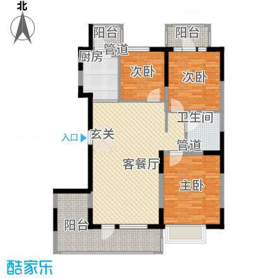U-WORLD优品天地105.60㎡U-WORLD优品天地户型图A-2户型3室2厅2卫1厨户型3室2厅2卫1厨