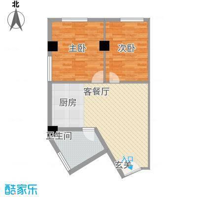 阳光VISA阳光VISA户型图二居室2室1厅1卫1厨户型2室1厅1卫1厨