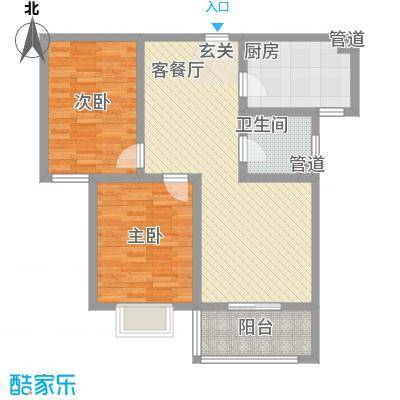 和信花园96.00㎡和信花园户型图D户型2室2厅1卫1厨户型2室2厅1卫1厨
