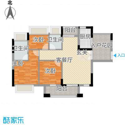 鸿怡花园156.00㎡鸿怡花园3室户型3室