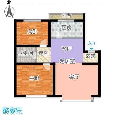 在水一方88.20㎡在水一方户型图2室2厅1卫户型10室