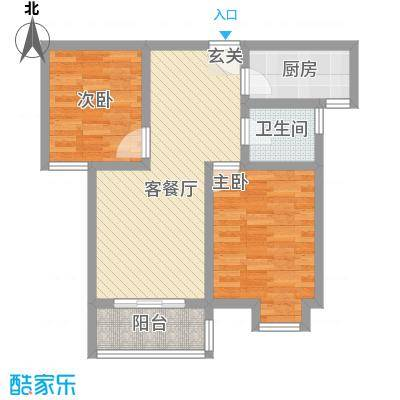 博隆金水湾家园80.00㎡博隆金水湾家园2室户型2室