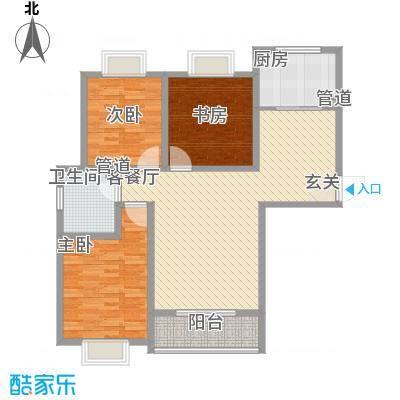 阳光柳岸121.47㎡阳光柳岸户型图3室2厅1卫1厨户型10室
