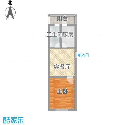 龙盛家园59.46㎡龙盛家园户型图1室1厅1卫户型10室