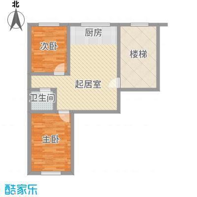龙盛家园70.76㎡龙盛家园户型图2室1厅1卫户型10室