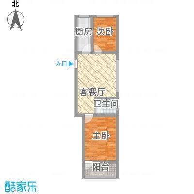 天成阳光花园61.64㎡天成阳光花园户型图两室一厅一卫户型2室1厅1卫户型2室1厅1卫