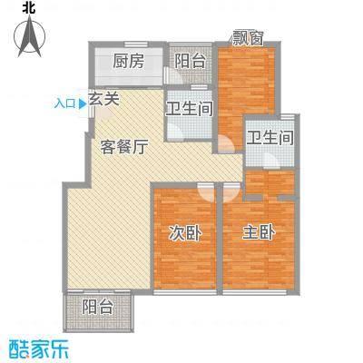 龙柏香榭苑136.28㎡上海西郊龙柏香榭苑户型10室