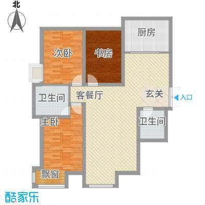国奥现代城二期157.00㎡国奥现代城二期4室户型4室