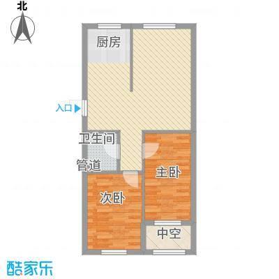 幸福人家76.00㎡幸福人家户型图1、3号楼C户型2室2厅1卫1厨户型2室2厅1卫1厨