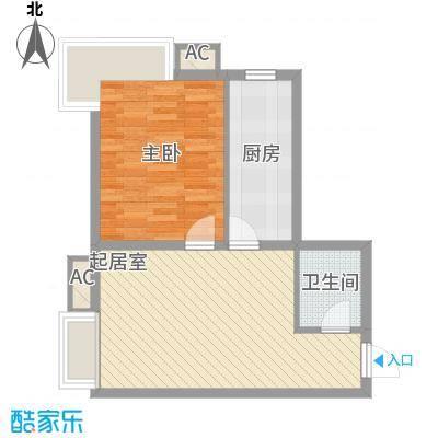 中粮大悦城65.00㎡中粮大悦城1室户型1室