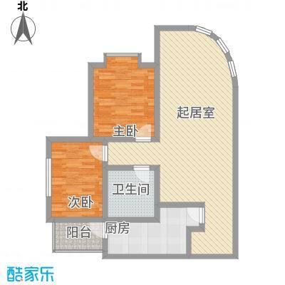 中粮大悦城106.00㎡中粮大悦城2室户型2室