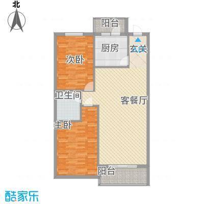 万众家园万众家园户型图115-122㎡2室2厅1卫户型2室2厅1卫