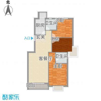 万众家园128.18㎡万众家园户型图3室2厅2卫户型10室