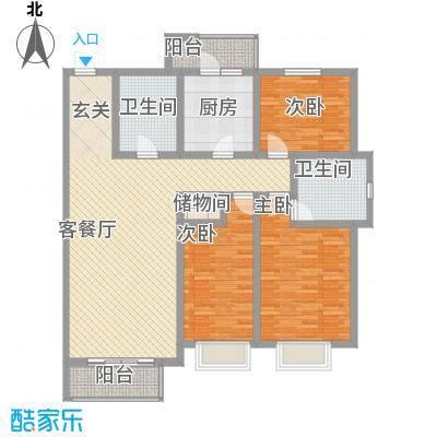 万众家园万众家园户型图152-156㎡3室2厅2卫户型3室2厅2卫