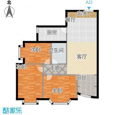 金苑华城133.51㎡金苑华城户型图3室2厅1卫户型10室