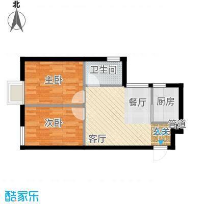 富雅豪临户型图2室2厅1卫