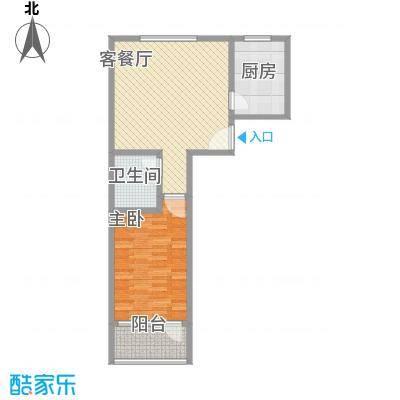 金丰山庄户型图1室1厅1卫