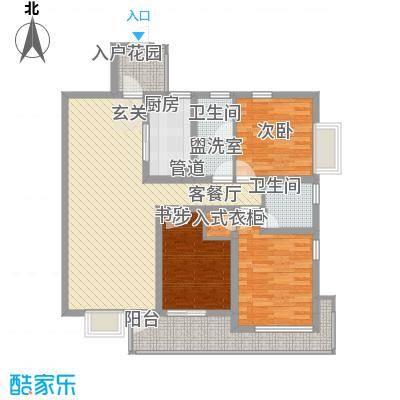 陆峰房产小区户型图户型图 3室2厅2卫1厨