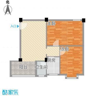狮岭金辉园79.66㎡狮岭金辉园2室1厅户型图户型10室