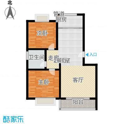 济南玫瑰园新城100.75㎡济南玫瑰园新城户型图A1户型2室2厅1卫户型2室2厅1卫