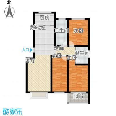 济南玫瑰园新城120.33㎡济南玫瑰园新城户型图C户型3室2厅2卫户型3室2厅2卫