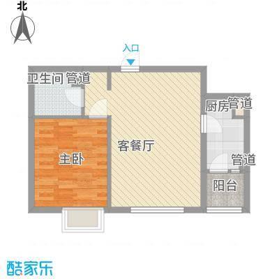 东亚国际城67.00㎡东亚国际城户型图8号楼B户型2室2厅1卫1厨户型2室2厅1卫1厨