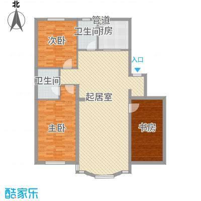 五彩新村131.00㎡五彩新村3室户型3室