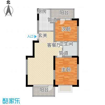 U-WORLD优品天地90.40㎡U-WORLD优品天地户型图B-5户型2室2厅1卫1厨户型2室2厅1卫1厨