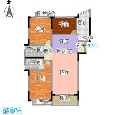 大地华园133.87㎡大地华园户型图3室2厅2卫户型10室