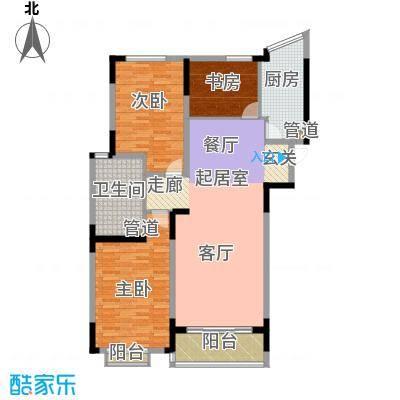 大地华园128.00㎡大地华园户型图3室2厅1卫1厨户型10室