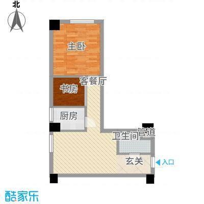银河国际70.48㎡银河国际户型图1室2厅1卫户型10室