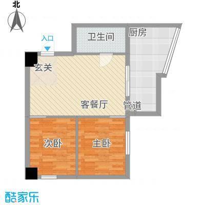 银河国际78.41㎡银河国际户型图1室2厅1卫户型10室