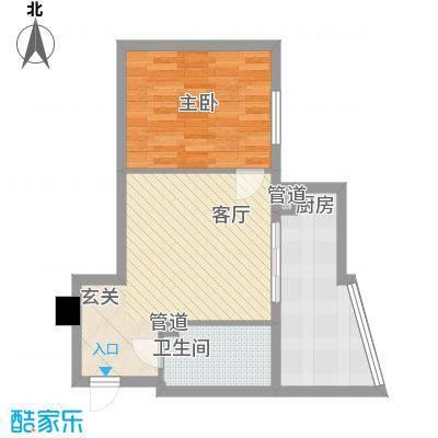 银河国际66.84㎡银河国际户型图1室2厅1卫户型10室