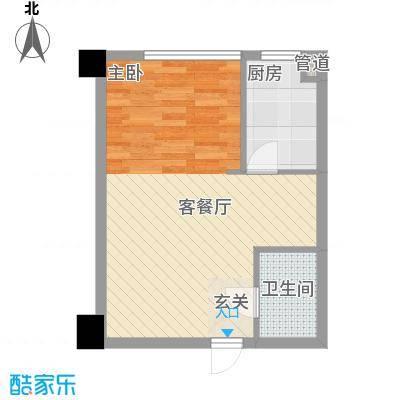银河国际55.19㎡银河国际户型图1室1厅1卫户型10室