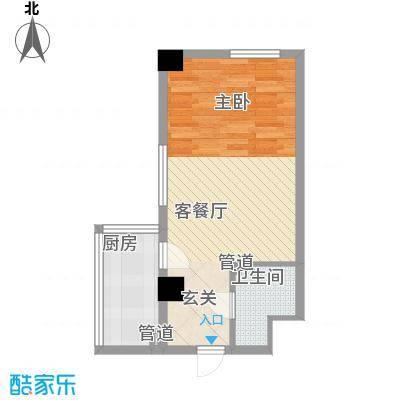银河国际54.83㎡银河国际户型图1室1厅1卫户型10室