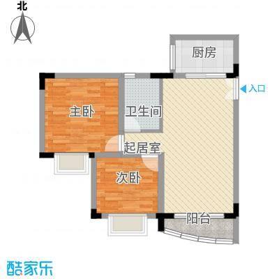 金明楼80.00㎡金明楼2室户型2室