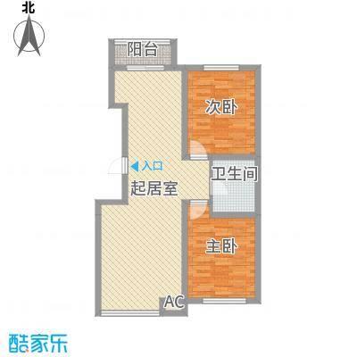 北美家园二期92.00㎡北美家园二期2室户型2室