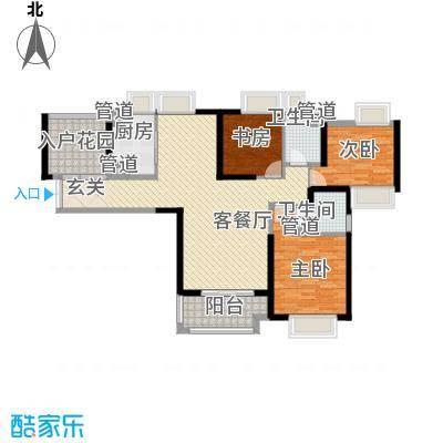 融侨锦江B区 3室 户型图