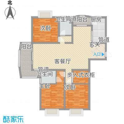 河风丽景二期159.12㎡河风丽景二期户型图3室2厅2卫1厨户型10室