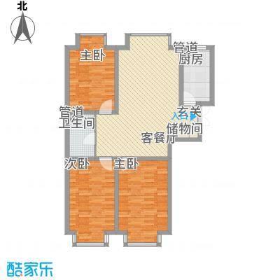 岸上公馆岸上公馆户型图F3室2厅1卫户型3室2厅1卫
