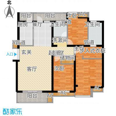 金地国际花园二期129.00㎡金地国际花园(二期)3室户型3室